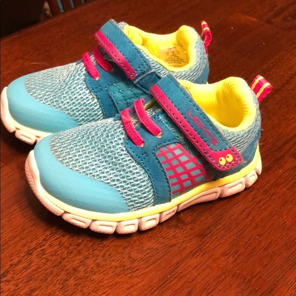 Toddler Girls/' Surprize Stride Rite Clarissa Athletic Light Up Sneaker Turquoise